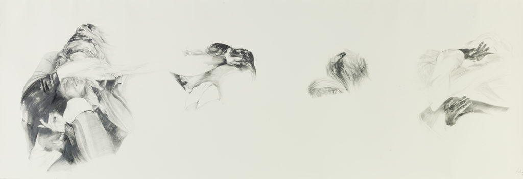 anna & claudia, pencil, 350/150cm, 2010