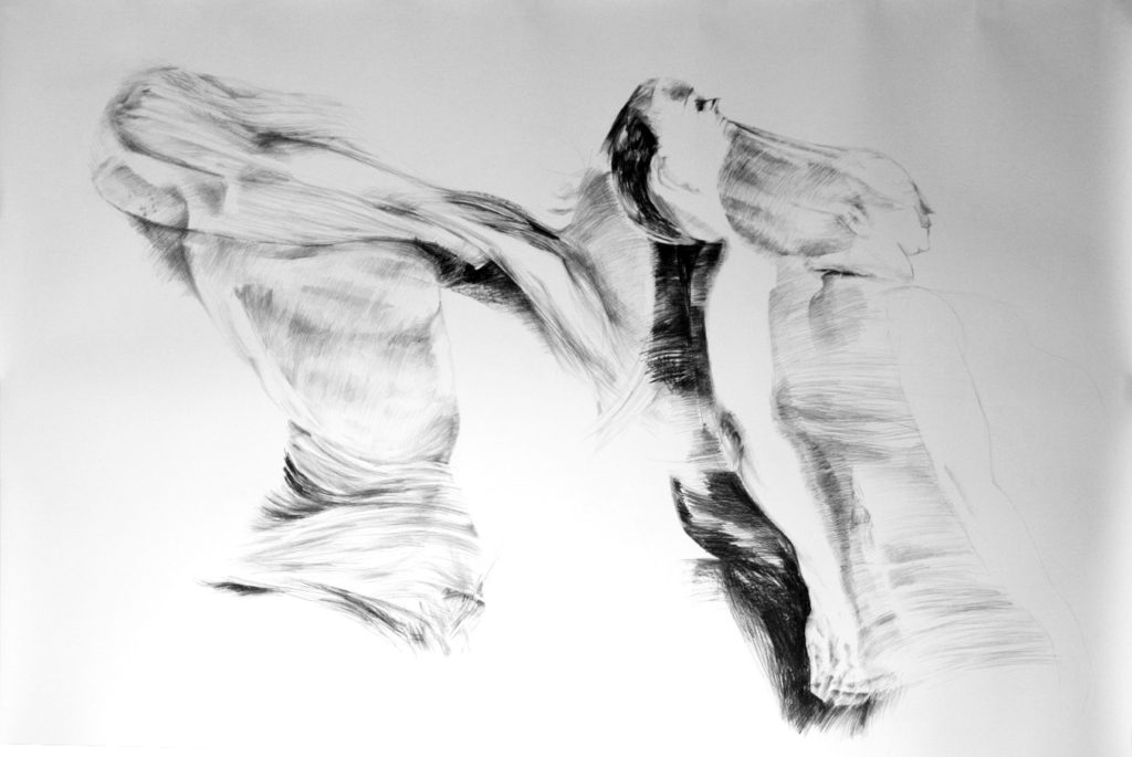 out of body, pencil, 120/150cm, 2011